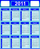 Calendar 2011. Illustration  english calendar 2011 background Royalty Free Stock Photography