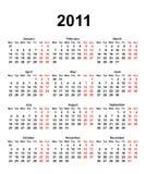 Calendar for 2011 Stock Photos