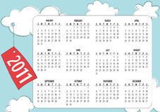 Calendar for 2011 Royalty Free Stock Photography