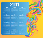 Calendar for 2011. Vector Illustration of colorful style design Calendar for 2011 Royalty Free Stock Image
