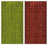 Calendar for 2011. Vector Illustration of asian style design Calendar for 2011 royalty free illustration