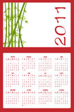 Calendar for 2011. Vector Illustration of asian style design Calendar for 2011 Stock Images