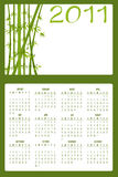 Calendar for 2011. Vector Illustration of asian style design Calendar for 2011 Royalty Free Stock Images
