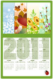 Calendar for 2011. Vector Illustration of style design Calendar for 2011 Royalty Free Stock Photography