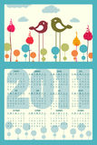 Calendar for 2011. Vector Illustration of colorful style design Calendar for 2011 Stock Images
