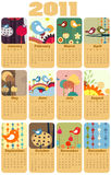 Calendar for 2011. Vector Illustration of colorful style design Calendar for 2011 Stock Image