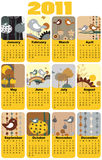 Calendar for 2011. Vector Illustration of colorful style design Calendar for 2011 Royalty Free Stock Photo
