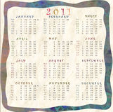 Calendar 2011. Wallpaper with calendar for the new year Royalty Free Stock Image