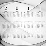 Calendar 2011. 2011 calendar on abstract background Stock Images