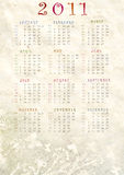 Calendar 2011. Wallpaper with calendar for the new year Royalty Free Stock Images