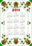 Calendar for 2011. Stock Images