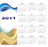 Calendar 2011 Royalty Free Stock Photography