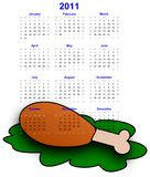Calendar 2011. The calendar 2011 for chef and restaurants Royalty Free Stock Images