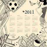 Calendar 2011. Template for original calendar 2011 Stock Image