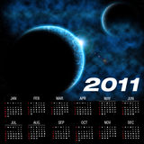 Calendar for 2011. With an astronomical image stock illustration