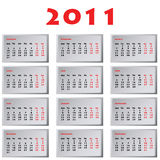 Calendar for 2011 Royalty Free Stock Images