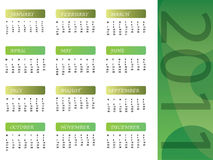 A calendar of 2011 Royalty Free Stock Photography