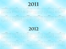 Calendar for 2011 and 2012 Stock Photography
