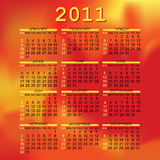 Calendar 2011 design Royalty Free Stock Images