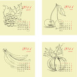 Calendar for 2011 with fruit Royalty Free Stock Images
