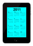 Calendar 2011 inserted in Mobile phone. vector fil. Calendar 2011 inserted in Mobile phone Royalty Free Stock Photo