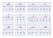 Calendar 2011. Notepad sheets. Stock Image