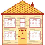 Calendar 2011 in an orange house Stock Photography