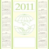Calendar 2011 partnership. Calendar 2011 with contours of handshake Stock Image