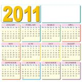 Calendar 2011 with place for your logo stock illustration