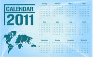 Calendar 2011 / Vector. Simple modern business calendar for 2011 - starts sunday. Vector Royalty Free Stock Images