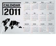 Calendar 2011 / Vector. Simple modern business calendar for 2011 - starts sunday. Vector Stock Photo