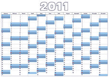 Calendar 2011 (Vector). Calendar 2011 in English all 12 Months, vector version available Royalty Free Stock Photo
