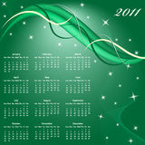 Calendar 2011 year. Calendar 2011 full year. January through to December months with a green abstract background Royalty Free Stock Photography