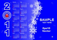 Calendar for  2011 year. vector 10eps. Stock Image