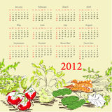 Calendar for 2012 Royalty Free Stock Photos