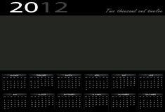 Calendar 2012 Royalty Free Stock Image