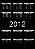 Calendar for 2012 Royalty Free Stock Photography
