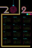 Calendar for 2012. Illustration of complete calendar for 2012 in abstract background Royalty Free Illustration