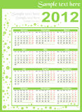 Calendar 2012. With room for text Royalty Free Illustration