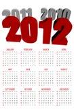 Calendar for 2012 Royalty Free Stock Photo