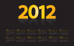 Calendar for 2012 Royalty Free Stock Photo