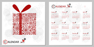 Calendar 2012. New Year's calendar 2012 Stock Images