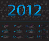 Calendar  2012 Stock Photography