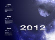 Calendar 2012 Royalty Free Stock Photos