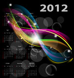 Calendar 2012. Abstract calendar 2012. glowing background stock illustration
