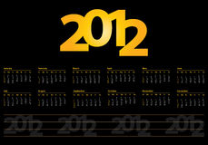 Calendar for 2012 Royalty Free Stock Images