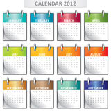 Calendar for 2012 Royalty Free Stock Image