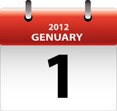Calendar 2012. The 1st day of Genuary 2012 Royalty Free Stock Photography