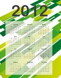 Calendar 2012. Over green abstract background. vector illustration royalty free illustration