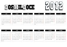 Calendar 2012 Stock Image